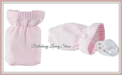 Bolsita para chupete rosa de tela algodón (Protector Chupete ...