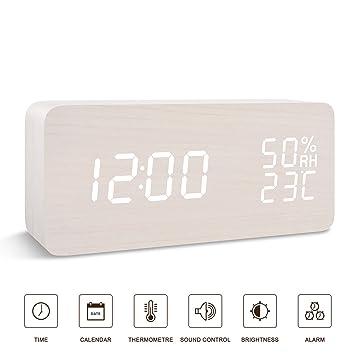 Amazon.com: BlaCOG - Reloj despertador digital de escritorio ...