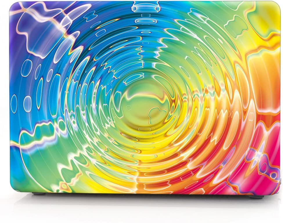 """HRH 3D Water Wave Rainbow Laptop Body Shell Protective PC Hard Case for MacBook Air 13.3"""" (A1466 / A1369),Not Compatible 2018 Version A1932"""