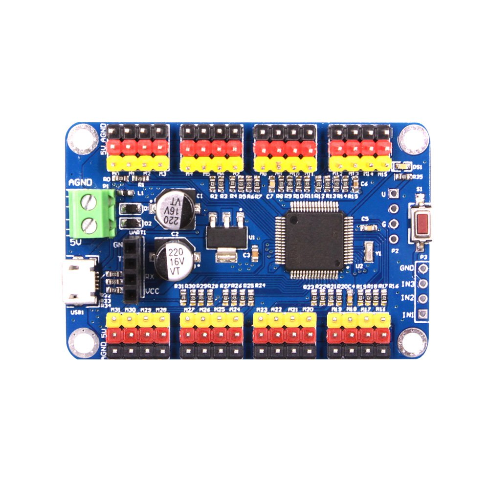 WITMOTION 32-Way Steering Gear Control Panel Controller USB Serial Port TTL Host Computer APP