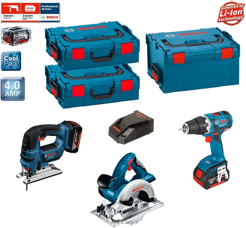 Bosch Kit psl3wggsm2a (GST 18V-LI + GKS 18V-Li + GSR 18V-EC + 2Baterías X 4,0Ah + L-Boxx 238+ 2x L-Boxx 136+ Cargador AL1860CV): Amazon.es: Bricolaje y herramientas