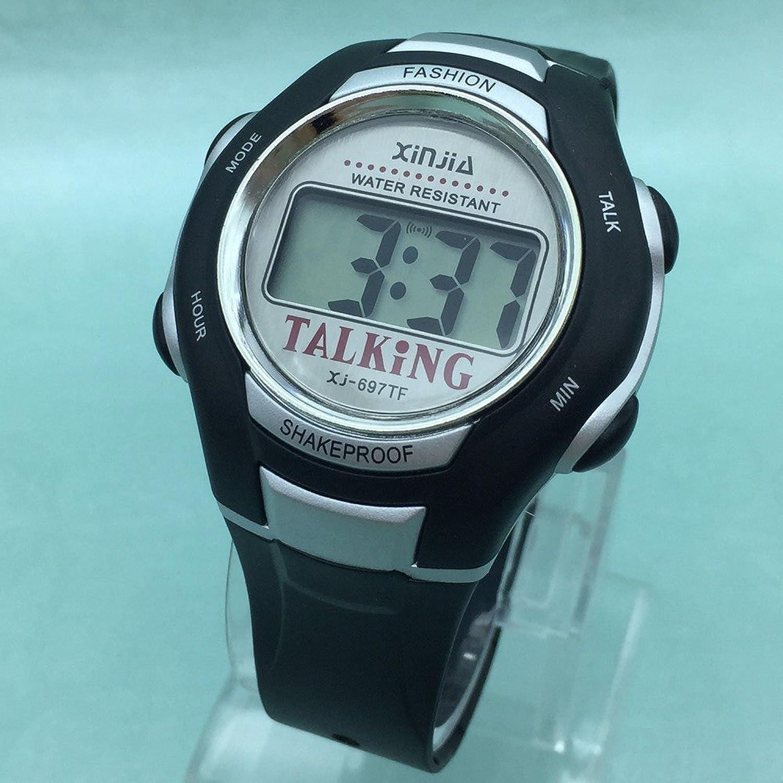Orologio parlante digitale con sonoro in italiano con sveglia e relazione oraria per bambini e non vedenti amazon it orologi