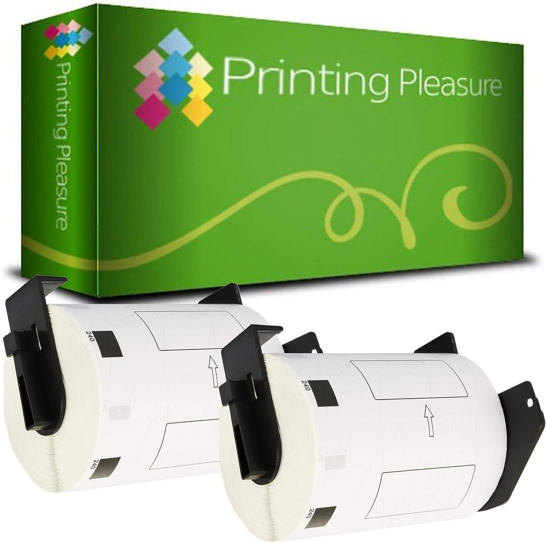 62mm x 100mm 300 St/ück Thermopapier mit Kunststoffhalter 3X DK11202 Versand-Etiketten kompatibel f/ür Brother P-Touch QL-500 QL-570 QL-700 QL-720NW QL-800 QL-810W QL-820NWB QL-1100 QL-1110NWB