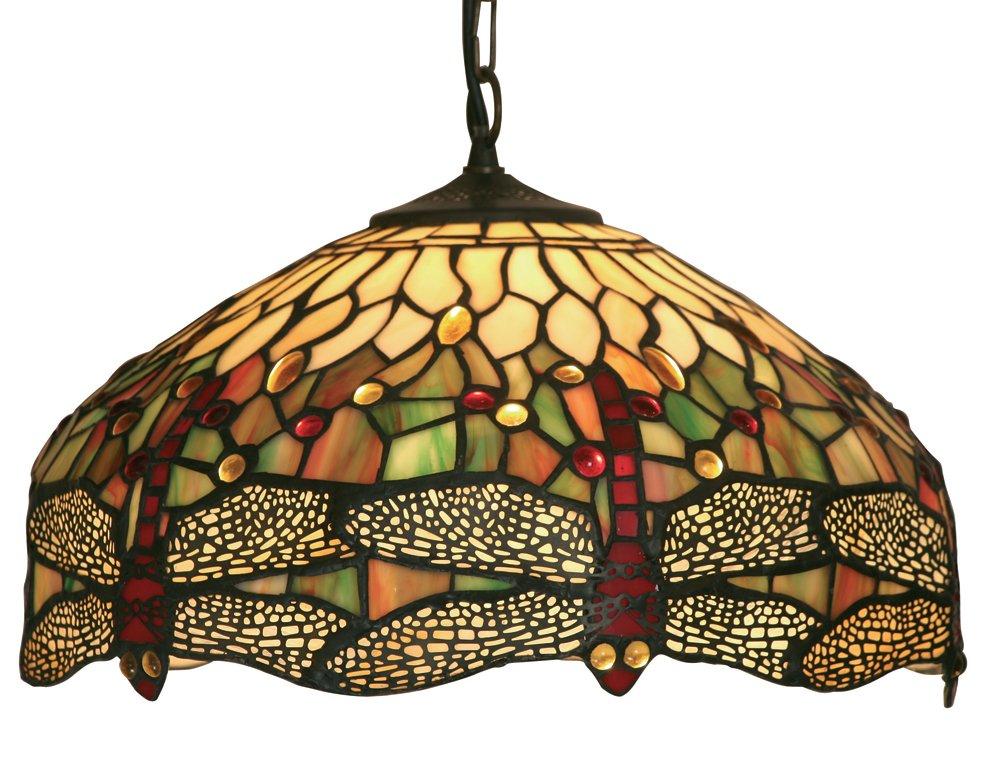 oaks lighting dragonfly tiffany pendant 16 inch amazon co uk lighting