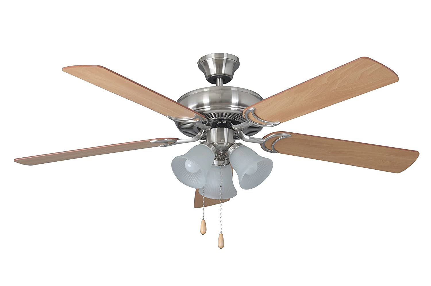 Litex e dcf52bnk5c3 decorators choice 52 inch ceiling fan with five litex e dcf52bnk5c3 decorators choice 52 inch ceiling fan with five reversible light maplemahogany blades and three light kit with ribbed frosted glass aloadofball Images