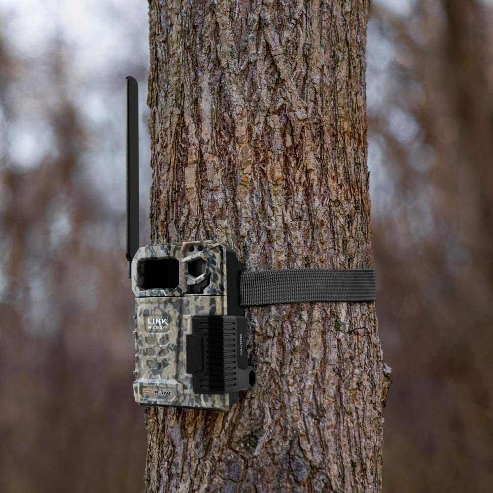 SPYPOINT Link-Micro-LTE Cellular Trail Camera 4 LED Infrared Flash Game Camera with 80-Foot Detection and Flash Range LTE-Capable Cellular Trail Camera 10MP 0.5-Second Trigger Speed Hunting Camera: Home Improvement