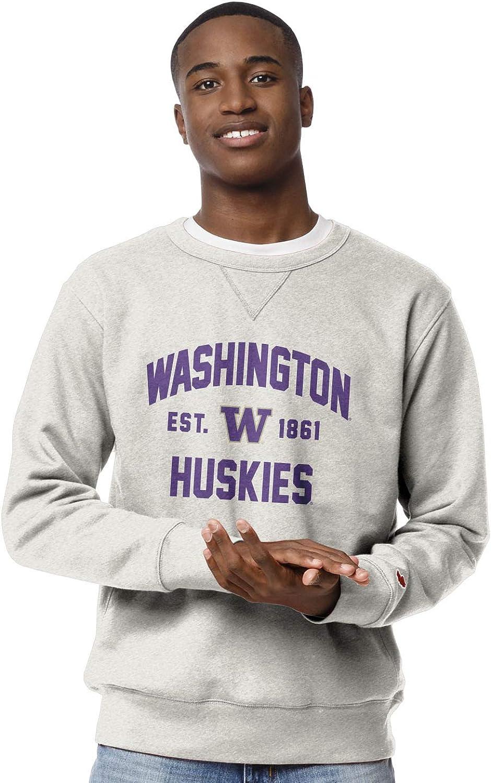 NCAA League Mens Washington Huskies Stadium Crew X-Large Oatmeal