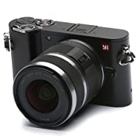 YI Fotocamera Mirrorless Fotocamera Digitale Compatta Obiettivo Intercambiabile 4k Camera Mirrorless Digitale con Lente Intercambiabile 12-40 mm F3.5-5.6, 20 Megapixel (Nero)