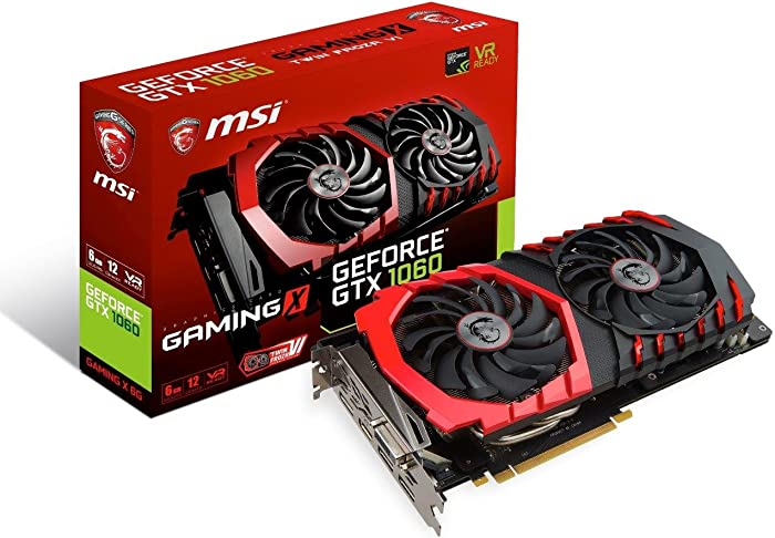 MSI GAMING GeForce GTX 1060 6GB GDRR5 192-bit HDCP Support DirectX 12 Dual TORX 2.0 Fan VR Ready Graphics Card (GTX 1060 GAMING X 6G)