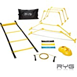 Raise Your Game RYG Speed Agility Training Set- Ladder, Cones, Hurdles, Explosiveness, Resistance, Exercise Equipment, Soccer