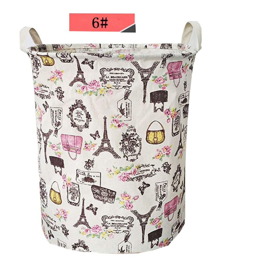 Gold Happy Waterproof Dirty Clothes Sundries Storage Basket Foldable Laundry Basket Storage Large Basket For Toy Washing Basket Box