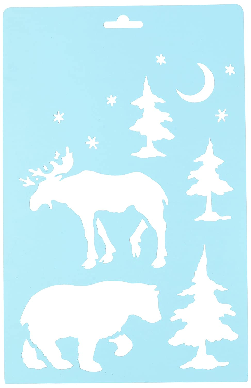 Momenta 27137 N/A Stencil 7X11-Moose & Bear