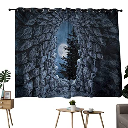 bedroom curtains 2 panel sets Gothic,Dark Cave with the ...