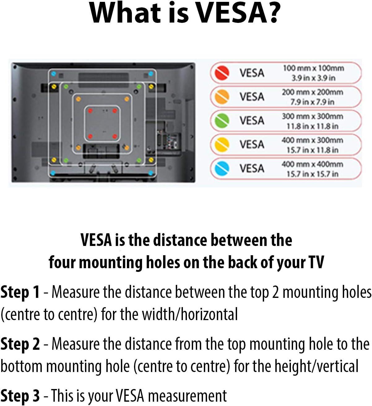 Invision Kit Adaptador VESA Para TV Soportes Murales: Amazon.es ...