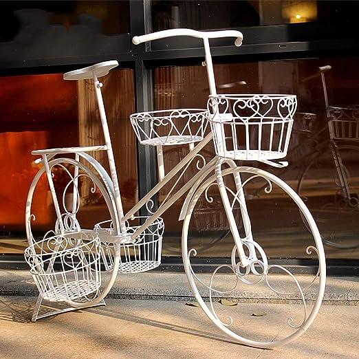 XIN® Estante De Flores Arte De Hierro Bicicleta De Pie Decoración ...