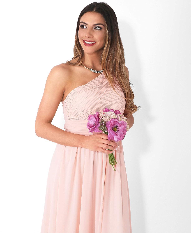 KRISP Damen Elegante Eintr/ägerkleider Chiffon Abendkleid