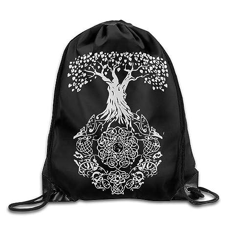 KCOUU Mochila con Cordón para Yoga, Diseño de árbol de la ...