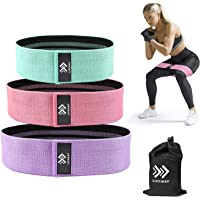 LIFEWAY Resistance Bands for Legs and Butt - Booty Bands Set, Non Slip Fabric Workout Bands Exercise Bands Glute Bands…