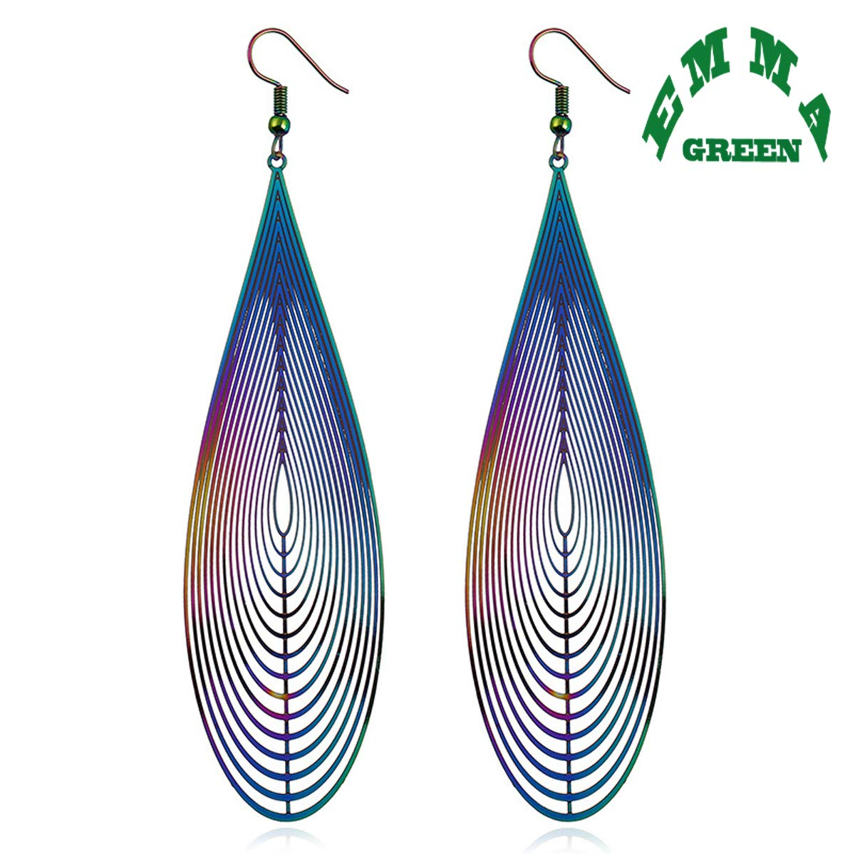 EmmaGreen Big Dangle Earrings Hook Earrings Illusion Long Pendant Dangle Jewelry for Woman Girls