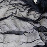 4 metros cuadrados de gasa negra para gótico Halloween horror gasa Draping Decoración 200cm x 200cm