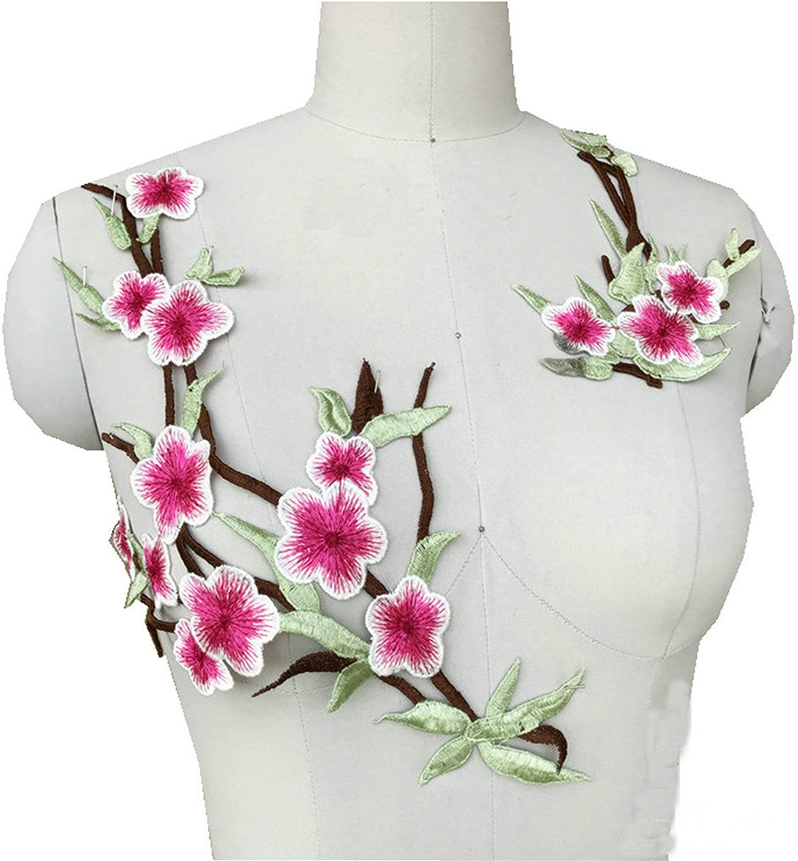 2pcs//Set Lace Embroidered  Trim Sewing Applique Patches Embellishment