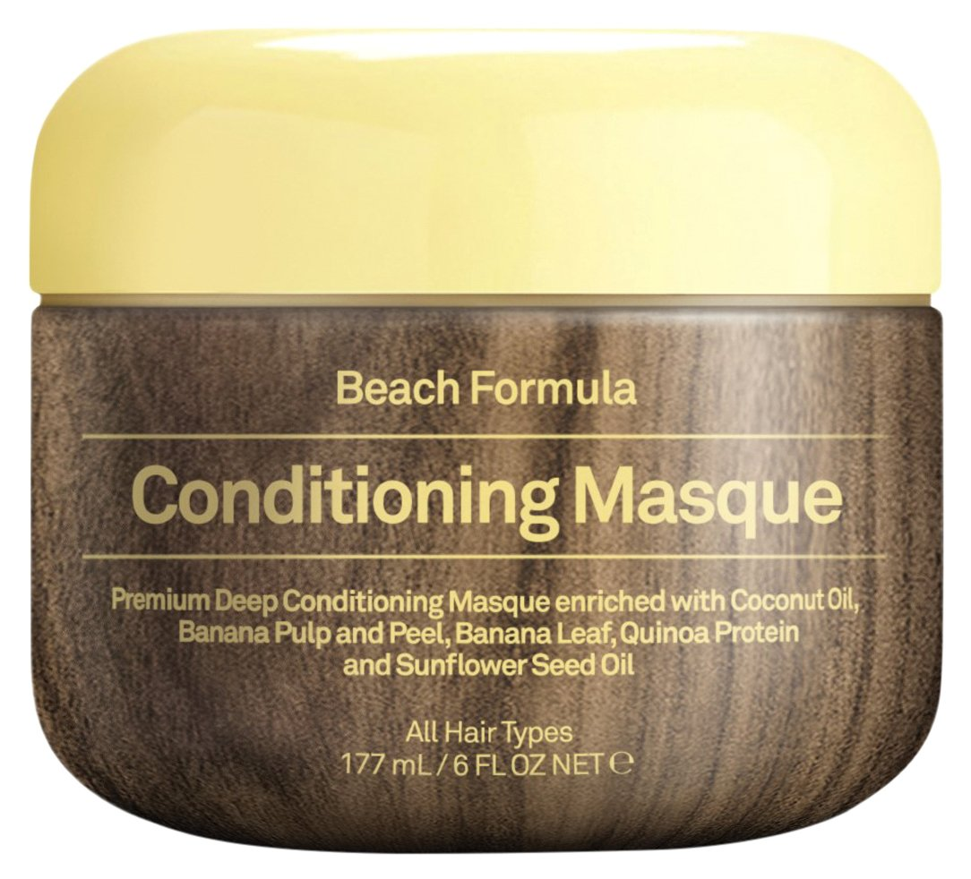 Sun Bum Beach Formula Revitalizing Deep Conditioning Hair Masque, 6 oz Tub, 1 Count, Hydrating Conditioner, Frizz Control, Paraben Free, Gluten Free, Vegan
