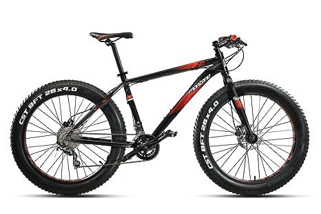Bici Bike Montana Vektor Fat 26 Acera 2x8 Disc Mtb Nerorosso Opaco