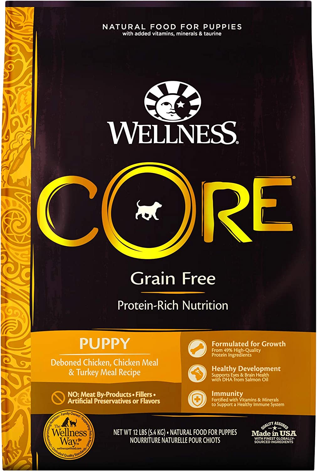 7. Wellness CORE Grain-Free Puppy Chicken & Turkey Recipe Dry Dog Food