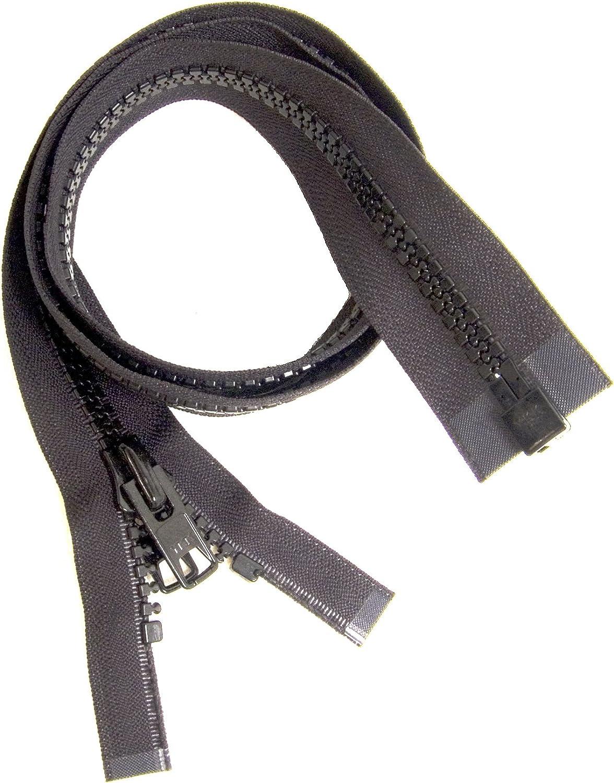 Bimini Top #10 Black Marine Double Pull Zipper 39 ~ YKK Zipper