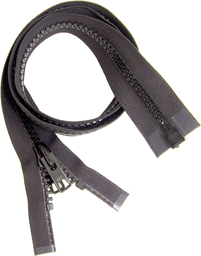 Bimini Top #10 Black Marine Double Pull Zipper 90\ ~ YKK Zipper