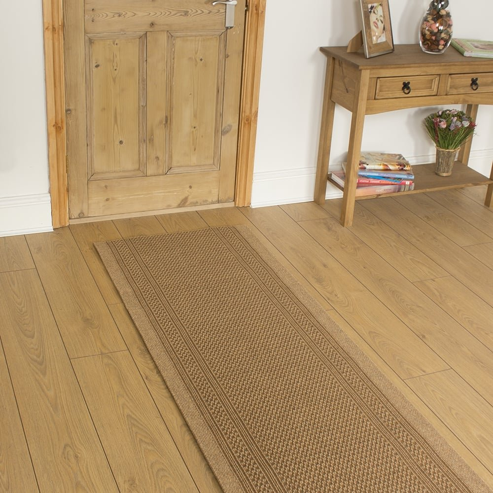 47 Sizes Available - Aztec Beige - Sisal Style Carpet Runner Rug Door Mat - Any Length Runners for Hall, Hallways, Passage, Corridor, Kitchen, Caravans Carpet Runners UK Hallway Runners