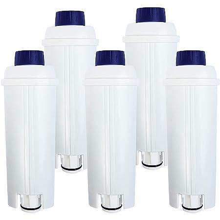 5 x Cartucho de filtro compatible DeLonghi DLS C002 para ...