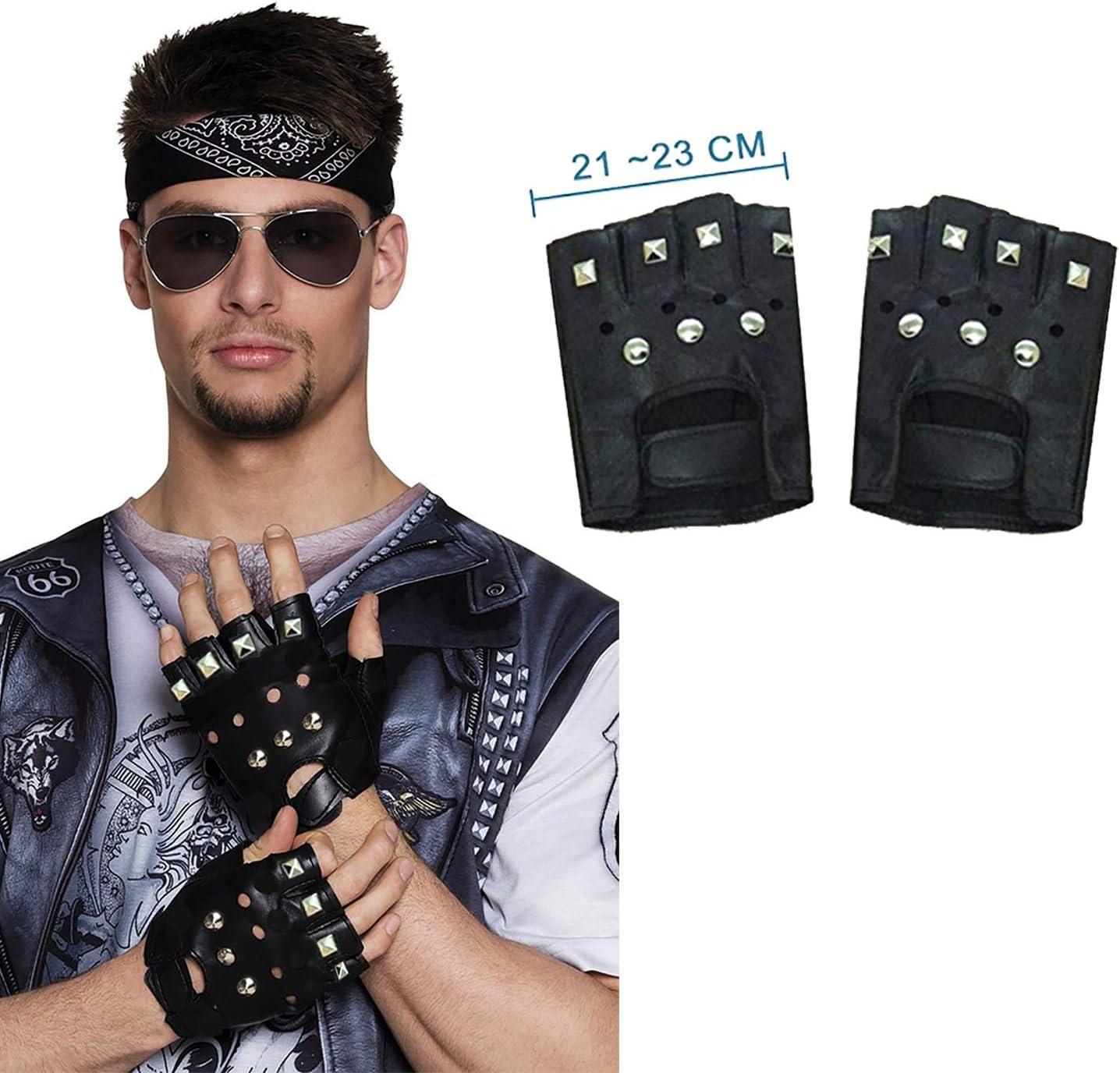 Adulti Nero Argento con borchie punk anni/'80 Costume Accessorio Girocollo ba185