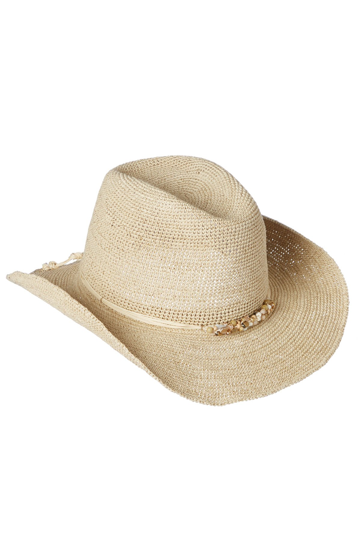 Beach by Florabella Women's Josie Cowboy Hat Natural/Gold One by Beach by Florabella