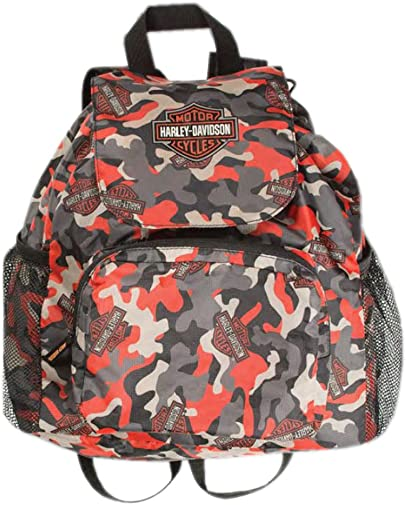 Harley-Davidson Boys Camo-Printed Packable Pouch Nylon Backpack 7180769