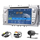 Double DIN En Dash Navigation GPS 7 pouces lecteur autoradio stšŠršŠo DVD Argent Pour Ford Focus de 2008 š€ 2010 Auto avec šŠcran tactile Bluetooth SD USB AM FM RDS ipod + 4GB SD CARTE carte + camšŠra de recul sans fil gratuit