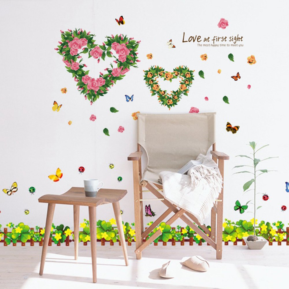 colorful decals flower butterfly tree frozen wall decal home colorful decals flower butterfly tree frozen wall decal home decor large wall sticker mural removable wallpaper and decorations painting supplies