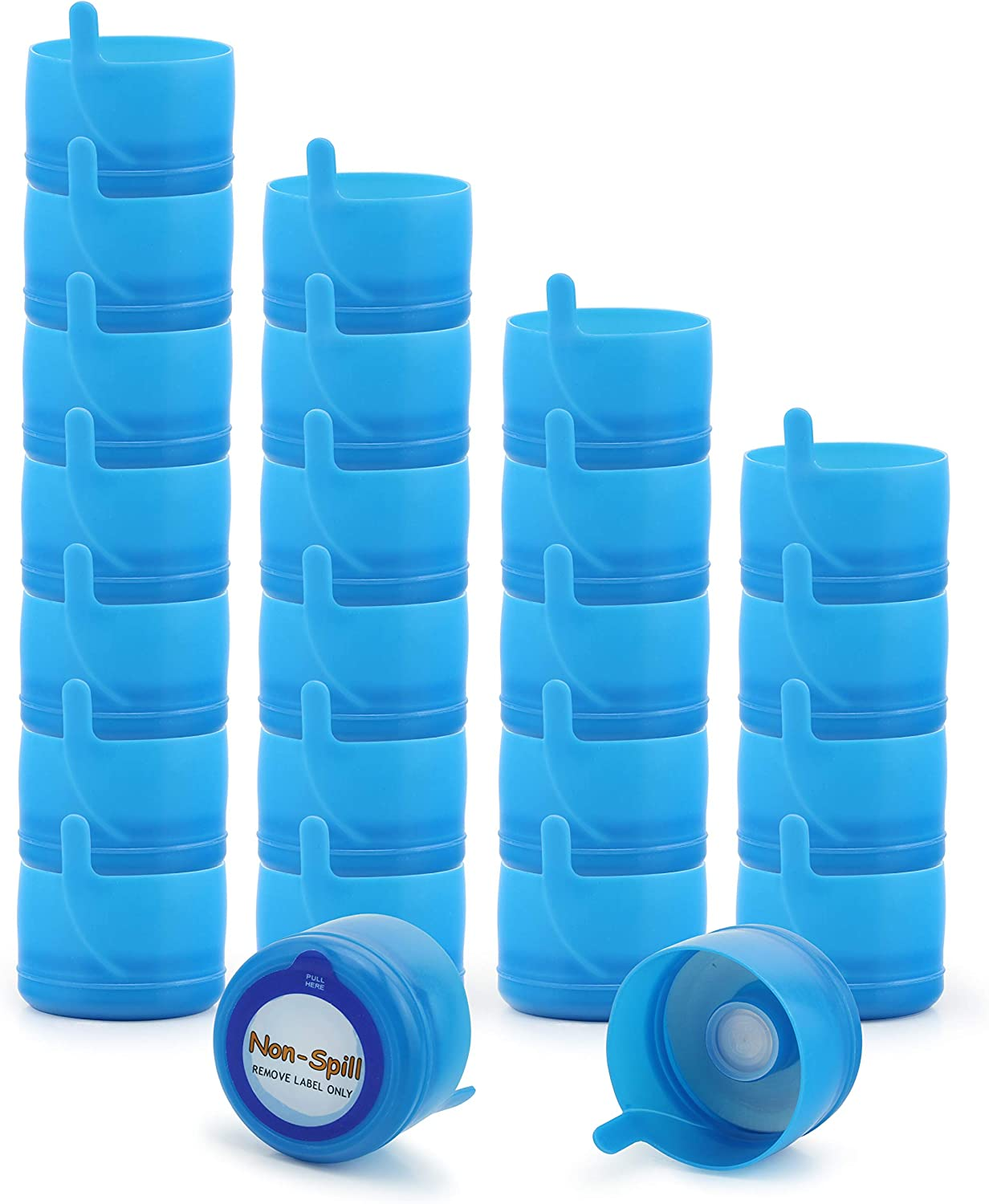 Cornucopia 3 and 5 Gallon Water Jug Replacement Caps (24-Pack), Multi-Use Parts Non Spill Lids for Water Dispenser Carboys