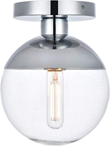 Modern Clear Glass Ceiling Light Fixture