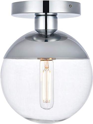Modern Clear Glass Ceiling Light Fixture