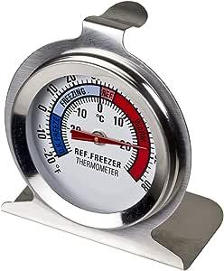 Davis & Waddell D20145 Essentials Stainless Steel Fridge/Freezer Food Safety Thermometer D6x7cm -29°C to 28°C Temperature Range