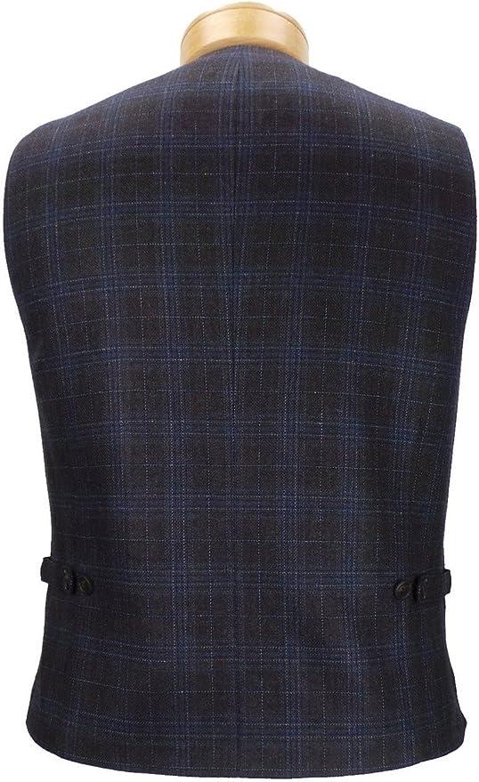 JKT New York Regis Fully Lined Plaid Wool Vest