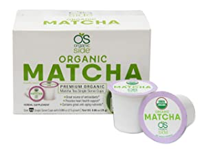 greenside Detox Herbal Tea K-Cups Matcha - Contains Anti-aging nutrients and Antioxidants - Herbal Body Supplements - 10 Cups (3-gram Serving/cup)