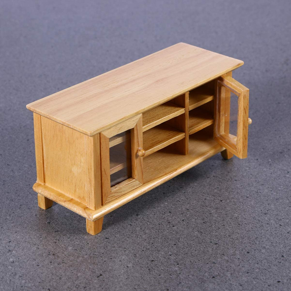 VOSAREA 1:12 Puppenhaus TV-Schrank Holz Miniatur Puppenhaus M/öbel Wohnzimmer Set Holz Make-Up Mini Haus M/öbel Zubeh/ör