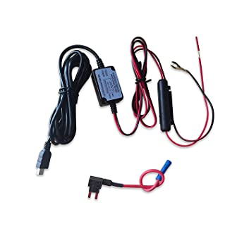 71l0AG121vL._SY355_ car camera hard wire kit mini usb dash cam 10 foot amazon co uk how to hardwire gps to fuse box at virtualis.co