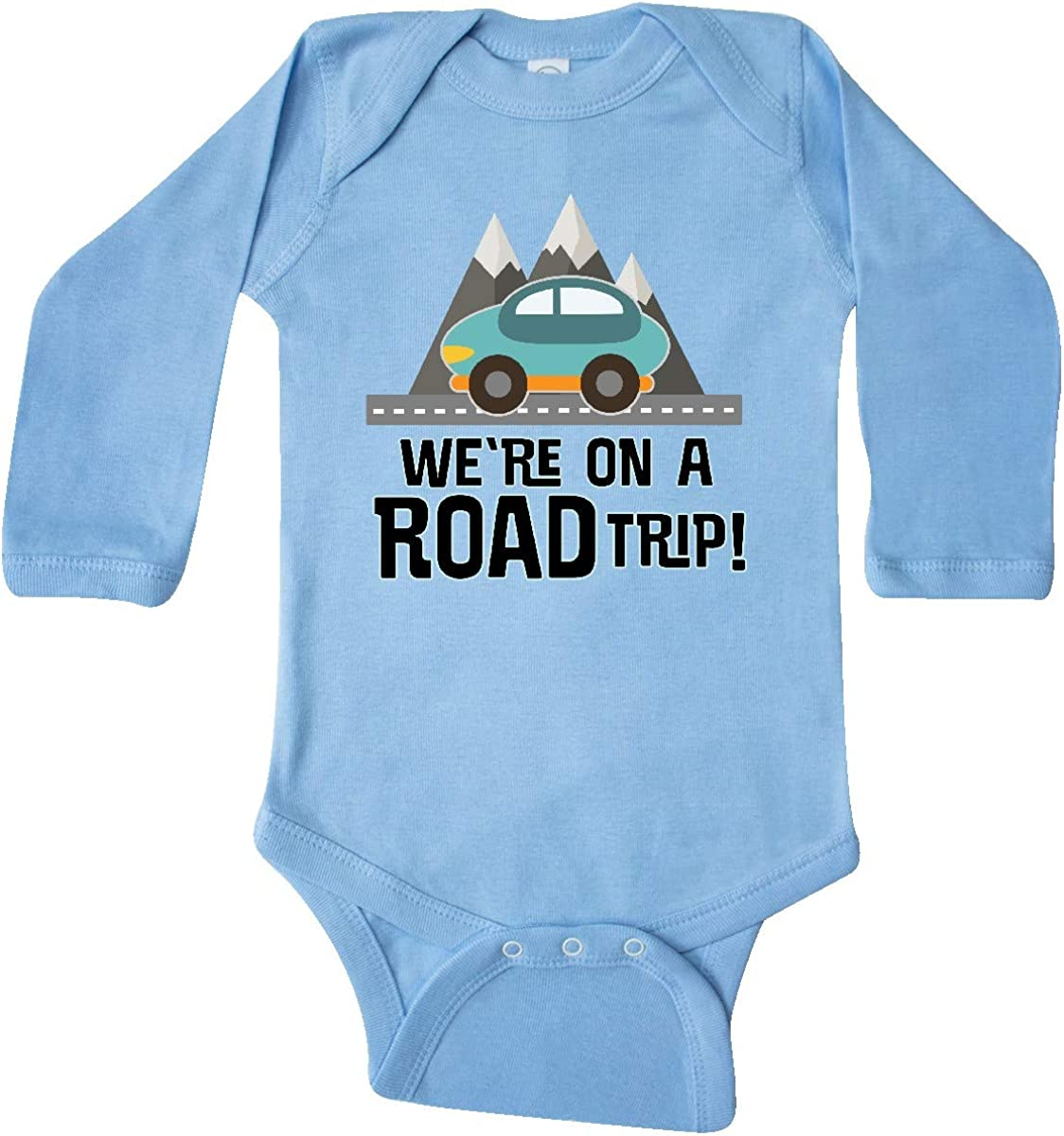 inktastic Family Road Trip Mountains Long Sleeve Creeper