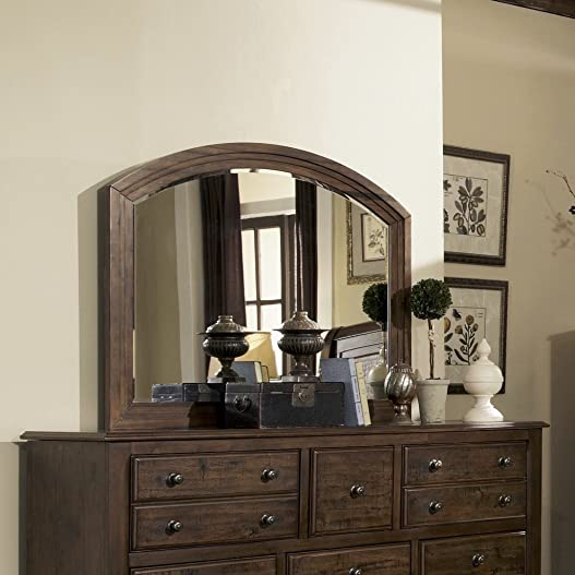 Laughton Rounded Edge Mirror Rustic Brown