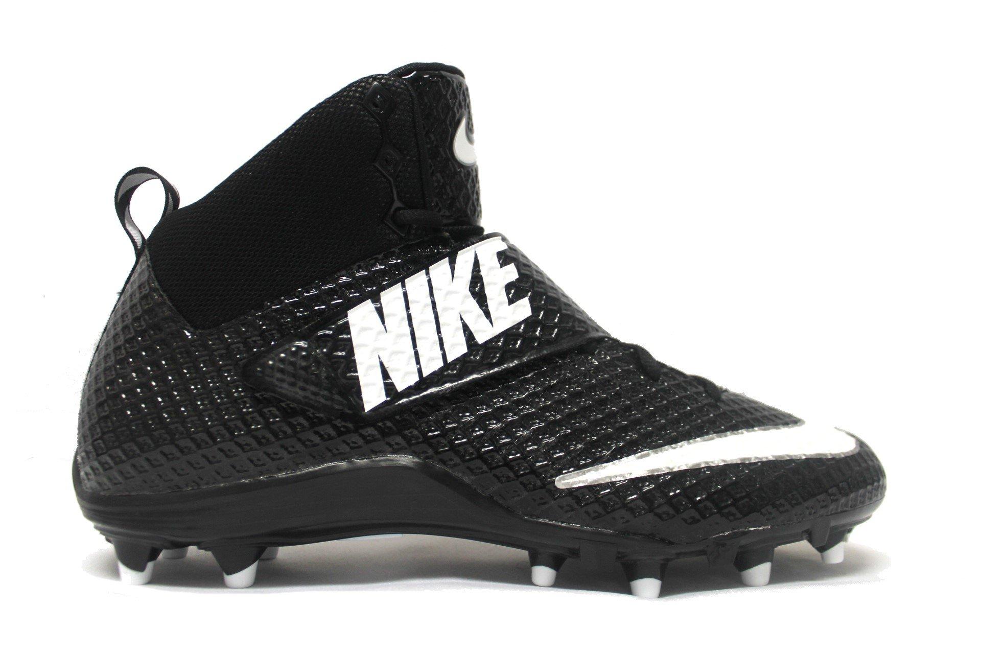 NIKE Lunarbeast Pro TD CF Football Cleats (12.5, Black/White)