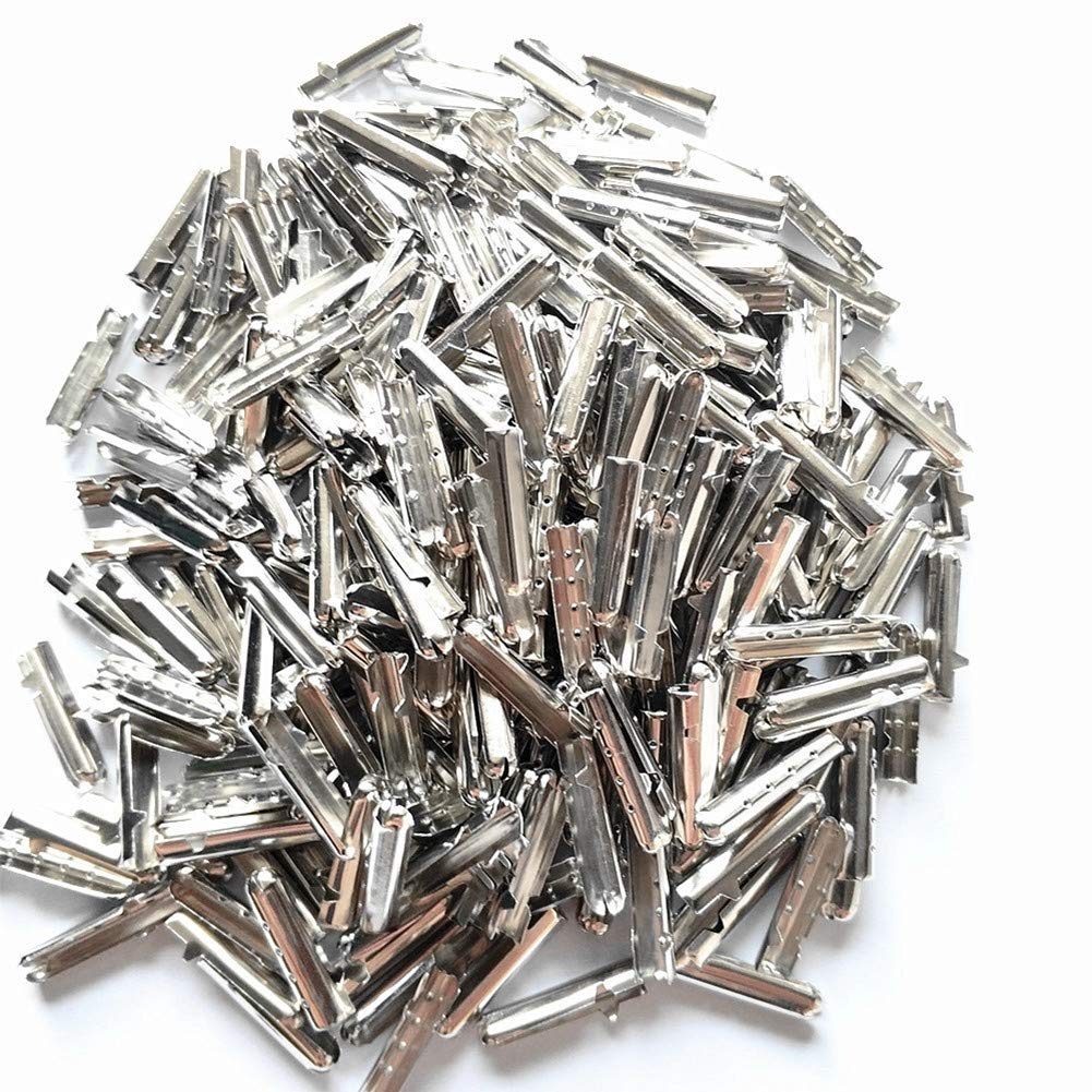 Colorsheng 300 Pcs Shoelace Bullet Metal Ends Aglet Repair Shoe Lace Tips Replacement DIY (Silve)