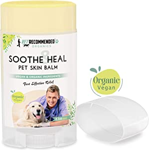 Soothe & Heal Balm for Dogs - Organic & Vegan Ingredients to Relieve Skin Irritations Fast. Natural Hot Spot Treatment for Dry Itchy Skin. For All Skin, Snout and Paws. (USA Made - 2.1oz - 62ml)